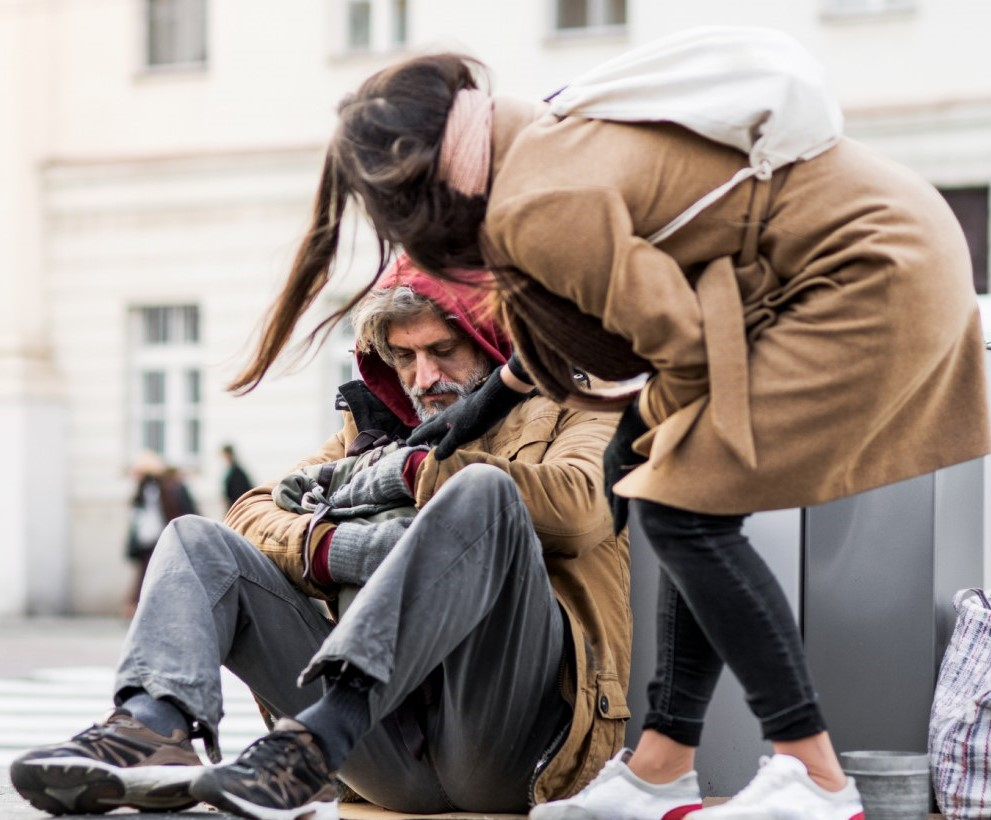 Local Woman Accidentally Nice To Homeless Man After Mistaking Him For AHipster