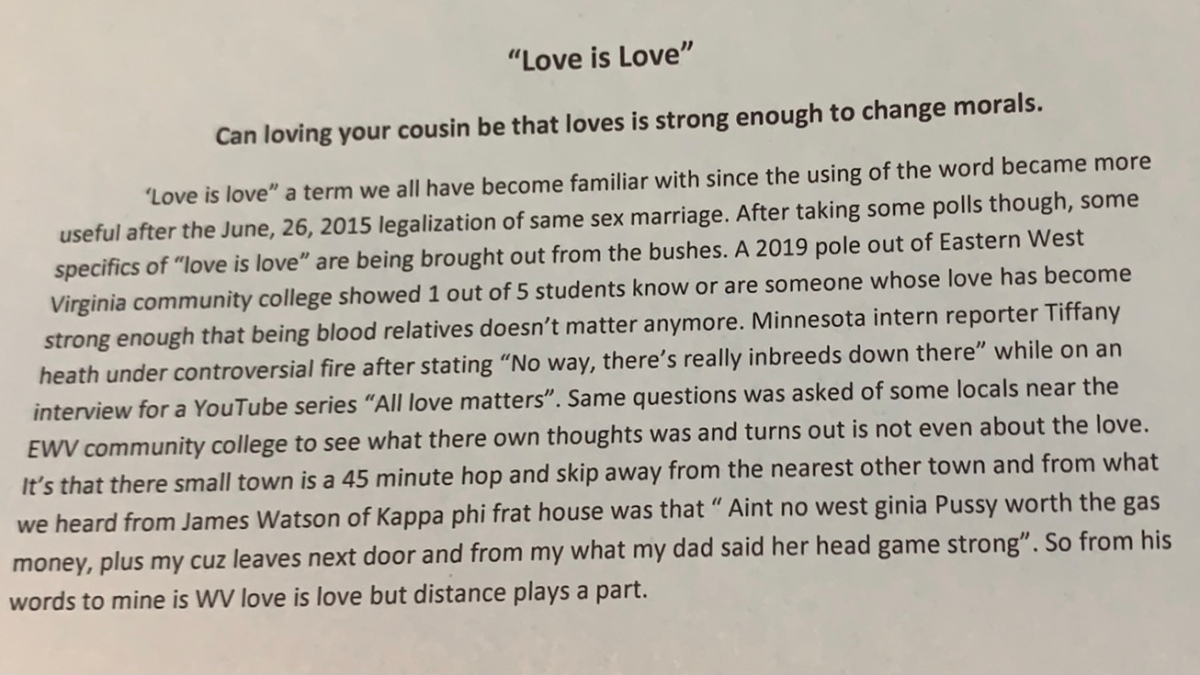 """""""Love Is Love"""" Can Loving Your Cousin Be Strong Enough To ChangeMorals?"""